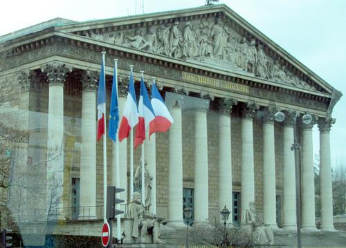 The Assemblé Nationale in Paris
