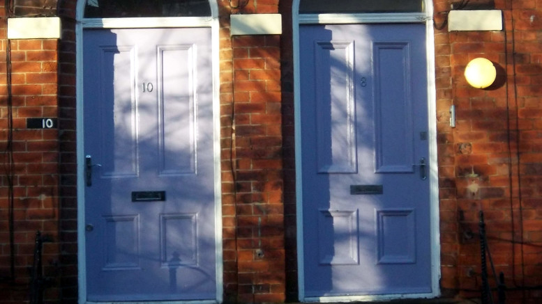 Same colour front doors