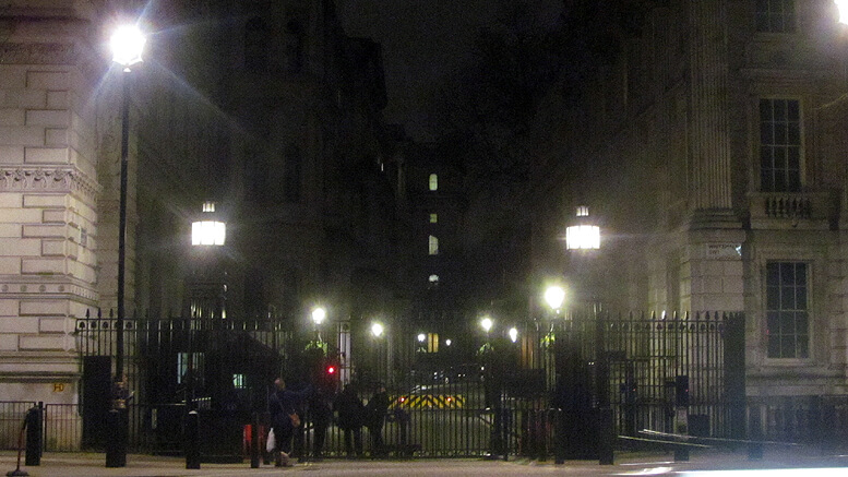 Downing Street gates in London