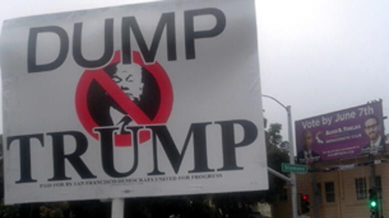 Dump Trump placard