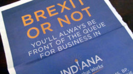 Indiana advert in the (London) Times