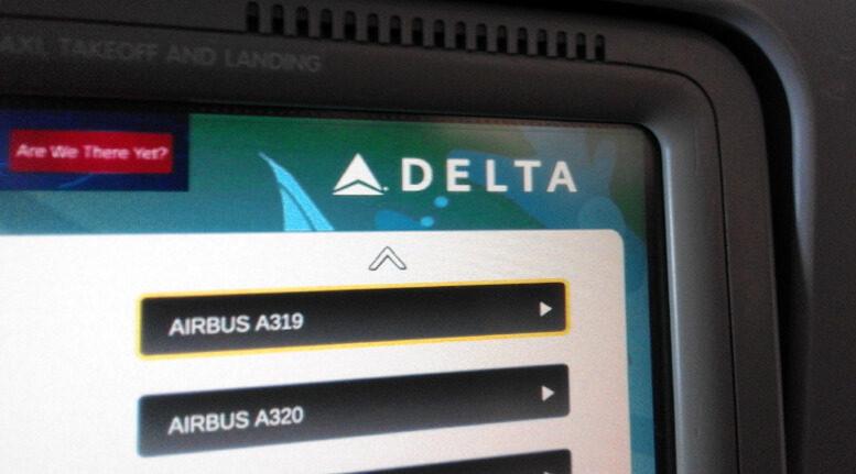 Delta Airlines' seatback screen