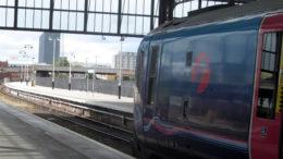 A Transpennine train at Hull Paragon station.