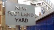 The sigh outside Scotland Yard in London.
